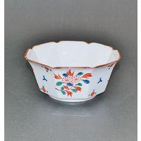 九谷焼赤絵八角菓子鉢