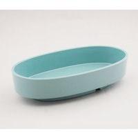プラスチック小判型水盤 青磁