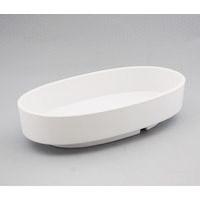 プラスチック小判型水盤 白