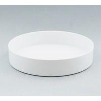 プラスチック丸水盤 白